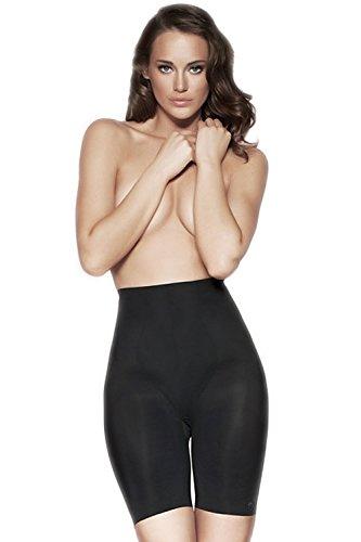 TEN Lingerie Shapewear Longpant mit Shape Effekt Langes Korsett Tulip Serie Schwarz