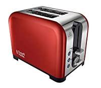 Red: Russell Hobbs Canterbury 2-Slice Toaster 22391 - Red