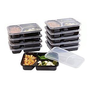 SET di 10 COLORATE Riutilizzavili-Facili da pulire scatole porta pranzo. - Contenitore con scompartimenti per dividere i cibi per adulti e bambini! Dimensioni ideali per i tuoi pasti!