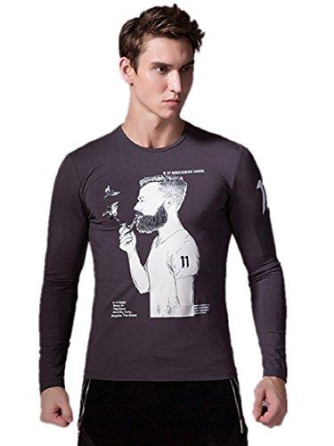 BOMOVO Herren Classics Stedman Interlock Slim T-Shirt Grau