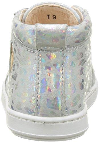 Shoopom Bouba Pad Lace, Baby Mädchen Babyschuhe - Lauflernschuhe Silberfarben