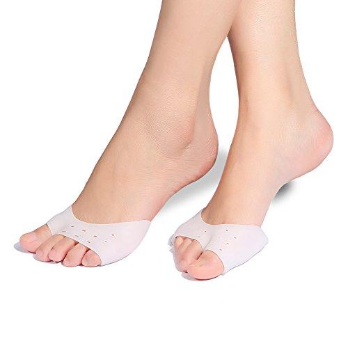Doact gel toe separatori e toe spreader per alluce valgo trattamento per dito a martello, sollievo per il dolore del piede (1 pair)