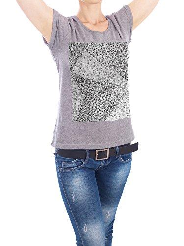 "Design T-Shirt Frauen Earth Positive ""Black & White Triangle 02"" - stylisches Shirt Tiere Abstrakt Natur Fashion von Sarah Plaumann Grau"