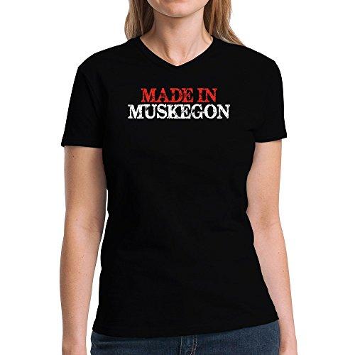 Eddany Made in Muskegon Damen V-Ausschnitt T-Shirt