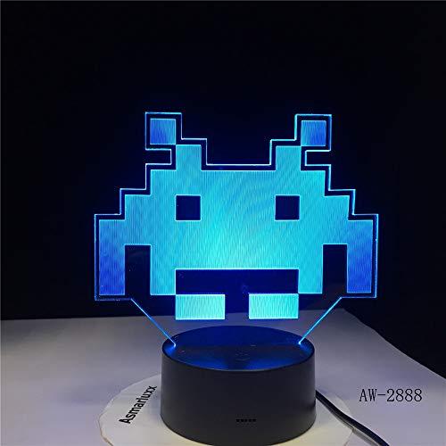 Rund um den Prototyp einfügen Licht 3D Licht LED 7 Farbwechsel USB Touch 6 No Controller -