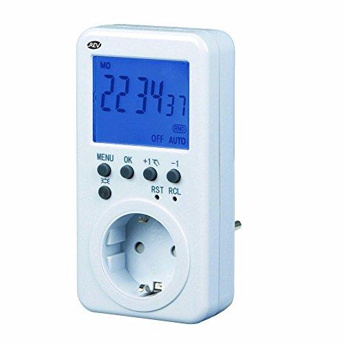 ZEITSCHALTUHR STECKDOSE Digital 2 Stück von 4smile ǀ Schaltuhr mit Countdown-/ Zufallsfunktion ǀ mit Kindersicherung und Display extra-groß ǀ für den Innenbereich ǀ Farbe: weiß