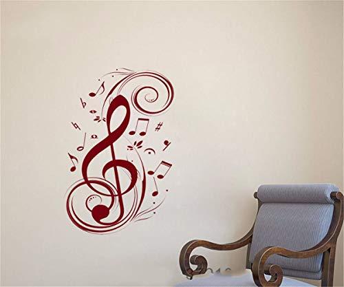 Poster adesivi murali adesivo murale chiave di violino a parete floreale soggiorno camera da letto camera dei bambini sala della musica