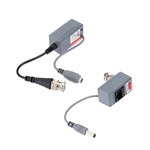 MagiDeal 1 Paar Kamera Koaxial BNC Video Balun Transceiver Power Audio