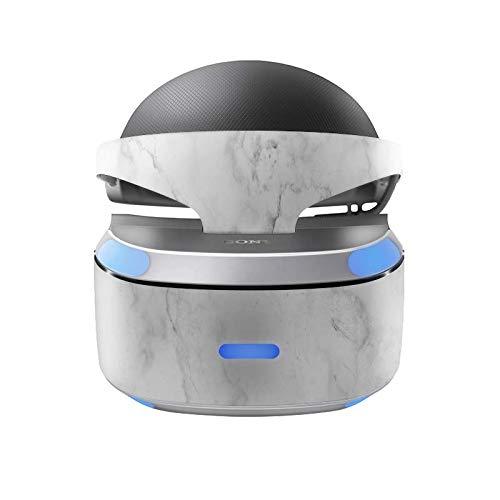 Skins4u Aufkleber Design Schutzfolie Vinyl Skin kompatibel mit Sony PS4 Playstation 4 VR Brille Marmor Weiss