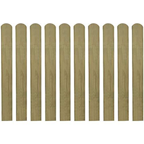Queues pour clôture 10 pièces 80 cm bois imprégné. Ces queues pour clôture formeront une barrière de protection pour votre jardin, Patio ou terrasse