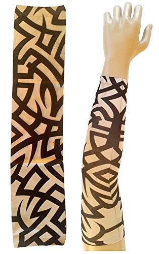 Manicotto tattoo - indossabile - manica - tatuaggio finto - immagine - fantasia - tribale - tatoo - mezza manica - tribale - idea regalo per natale e compleanno - w115