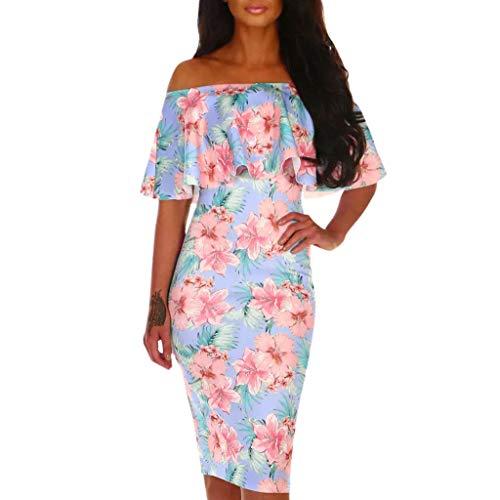 Vestido Ropa Mujer | Vestido Con Estampado Floral De Verano Sin...
