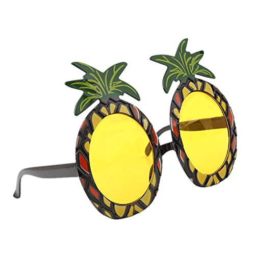 CUHAWUDBA Hawaiian Strand Sonnenbrille Ananas Brille Hen Night Stag Party Kostuem Party Event Supplies Ananas Glaeser