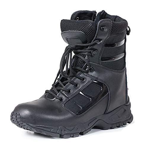 Herren High Boot Tops (cy Herren Kampfstiefel Stahlkappe Taktische Sicherheit Stiefeletten Sicherheit Militärpolizei Boot Für Bergsteigen Wandern Camping Schwarz High-Top-Desert Boots,Black-43)