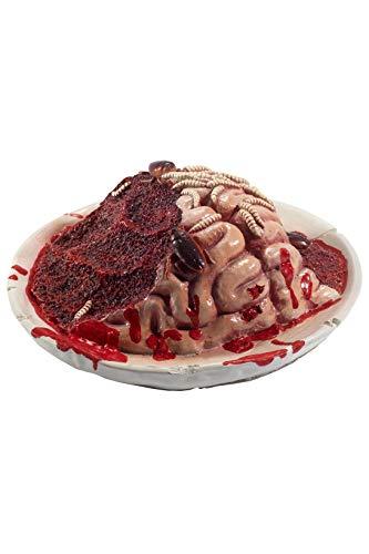 Smiffy'S 48210 Plato Gourmet Sangriento De Cerebro Podrido Con Gusanos Y Cucara, Rojo