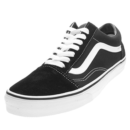 Vans-Old-Skool-Mens-Nero-Tela-Sneaker-UK-5