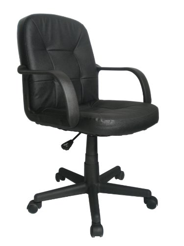 Eliza Tinsley 2014MB/LBK - Silla de oficina (superficie de piel, tamaño mediano), color negro