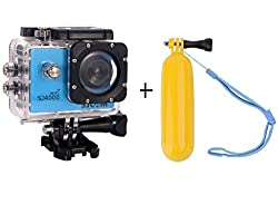 Sjcam Sj4000 Wifi 1080P 12Mp Digital Sports Waterproof Helmet Camera Blue + Float