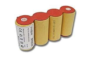 Batterie Ni-MH vhbw 3000mAh (4.8V) pour balais électriques Kärcher K50, K85. remplace: ABS-K55, BF9900.