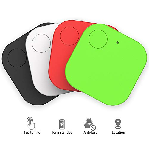 Key Finder, Phone Finders Wallet Finder,Bluetooth Pet Trackers Purse Luggage Tracker Anti Lost Reminder Works With Android & iOS (4 Pack)
