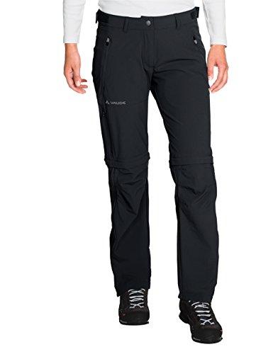 VAUDE, Damen Hose Farley Stretch Zip Off T-Zip Pants, Schwarz (Schwarz), Gr. 38 normal