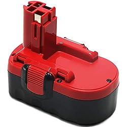 POWERAXIS 18V 3000mAh NI-MH Remplacement Batterie pour Bosch BAT025 PSR 18 VE-2 PSB 18 VE-2 GSB 18 VE-2 BAT026 BAT160 BAT180 2607335277 2607335278 2607335535 2607335536 2607335680 13618 1644K 3860CK