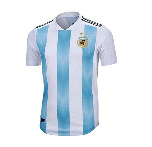 Lvbeis Copa Mundial 2018 Hombre Ropa Deportiva Fútbol Argentina Camiseta Transpirable,Small