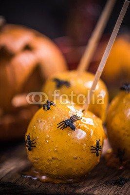 druck-shop24 Wunschmotiv: Apple candy Halloween sweet treat #122950594 - Bild auf Alu-Dibond - 3:2-60 x 40 cm/40 x 60 cm