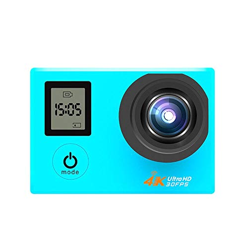 FENGSHUAI Action Kamera, wasserdichter 4K Dual Screen mit Fernbedienung WiFi Outdoor Sport Kamera DV Tauch Luft Kamera HD Kamera,Blau