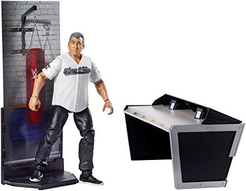 Wwe shane mcmahon mattel elite 50 juguete figura de lucha locutor mesa accesorio wrestlemaina 30