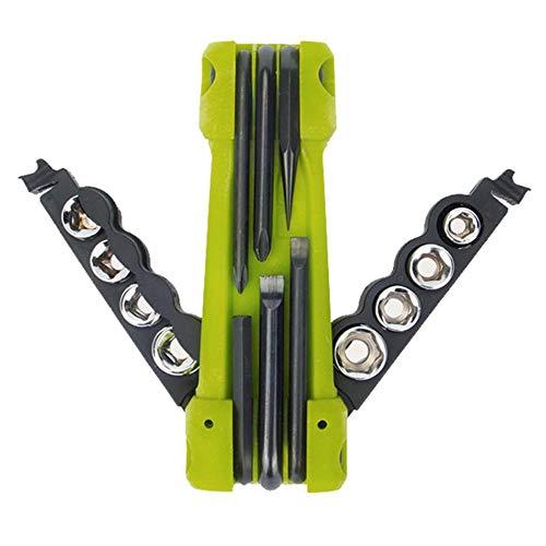 GYKFY 17 In 1 Outdoor Multifunktionswerkzeug Tragbare Schraubendreher Set Klapp Reparatur Fahrrad Werkzeuge Mutter Treiber Bit Socket Inbusschlüssel Flaschenöffner (Socket Bit Treiber)