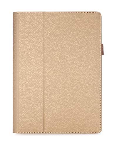 ISIN Tablet Fall Serie Premium PU-Leder Schutzhülle für Lenovo Ideapad MIIX 310 10,1 Zoll Windows 10 Convertible 2 in 1 Tablet PC mit Handschlaufe und Kartenschlitz (Gold)