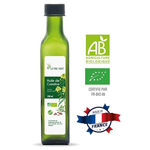 Huile de cameline BIO - Vierge Extraite à froid - 250 ml - Fabriquée en France