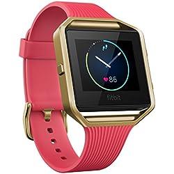 Fitbit Blaze Edición Especial - Reloj inteligente para actividad física, unisex, color rosa y oro, talla L