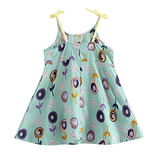 (Mädchen Kleider,BaZhaHei Mode Kleinkind-Säuglingsbaby-Mädchen-Blumen-Blumen-Sleeveless Bügel-Prinzessin Dress Outfits Freizeitkleid Spitzenkleid Minikleid Sommerkleid Strandkleider)