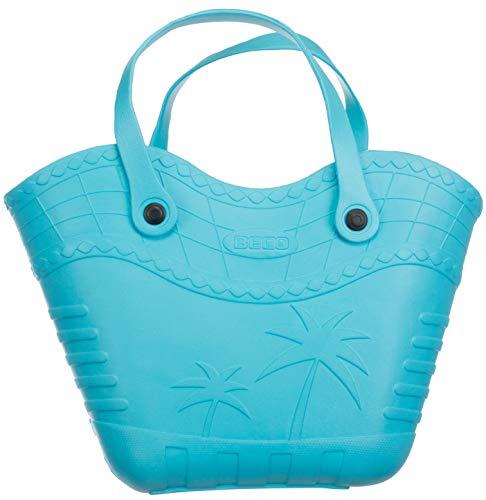 Brandsseller Handtasche Strandtasche Einkaufstasche Aus Kunststoff Größe: ca.36x23x12 cm - Farbe: Blau