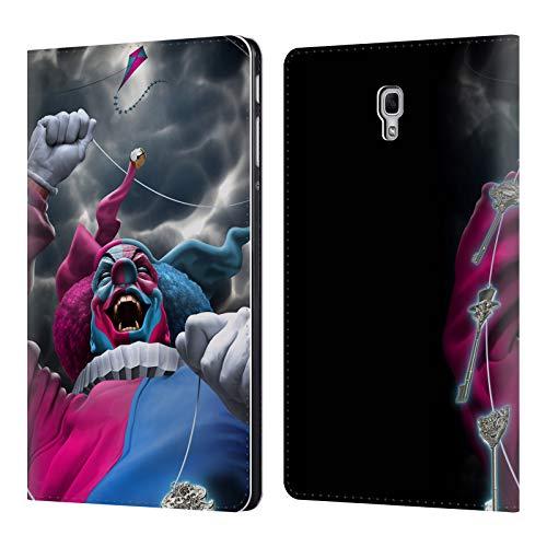 Head Case Designs Offizielle Tom Wood Verfuehrerisches Schicksal Clown Leder Brieftaschen Huelle kompatibel mit Samsung Galaxy Tab A 10.5 (2018) -