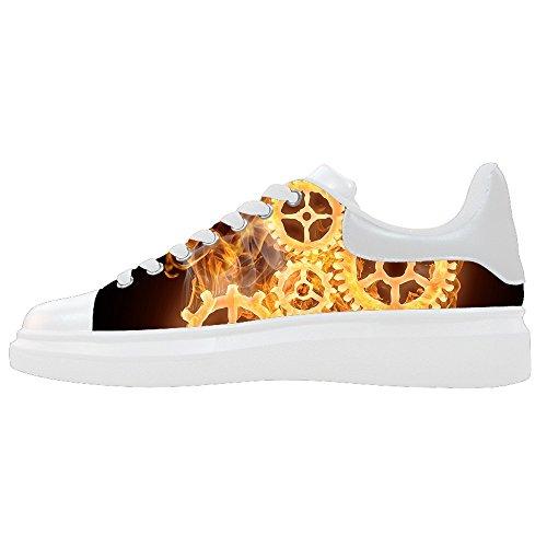 Dalliy feuer feuer Men's Canvas shoes Schuhe Lace-up High-top Sneakers Segeltuchschuhe Leinwand-Schuh-Turnschuhe E