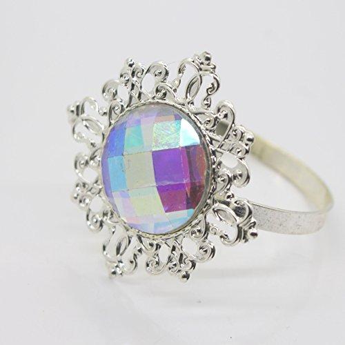 10 Diamant Blanc Gem Rond de Serviette Serviette Support Table pour mariage décoration Favor