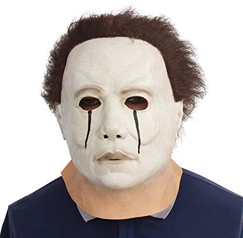 en Kostüm Latex Horror Clown SAH Maske Super Lebensecht erschreckend die Puppe Maske aus Film Puzzle Vollmaske Kopf Latex Maskerade Prop Weihnachten, Erfüllt Ihre Scare-Kriterien! ()