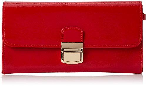 Dorothy Perkins Damen Red Patent Clutch, Rot (Red), 22 x 12 x 2.5 cm