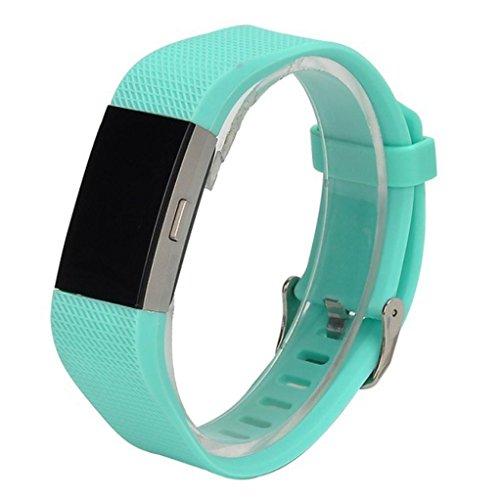 Preisvergleich Produktbild squarex exquisite Neue Art und Weise Sport Silikon Armband Strap Band für Fitbit Charge 2,  damen,  mintgrün,  AS Show