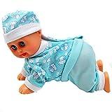 certylu Puppe Spielzeug, elektrische intelligente Puppe lachend schreien singen Krabbeln Baby...