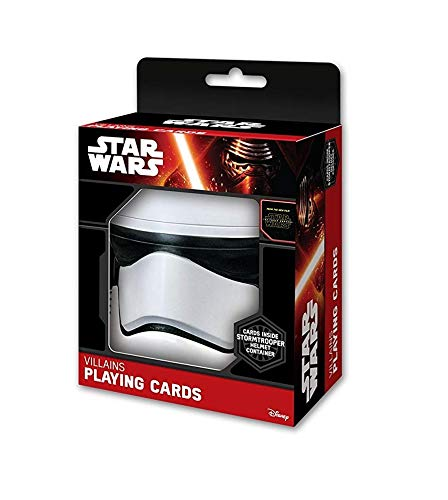 ASS Altenburger 22501665 - Star Wars Spielkarten, Schurken Deck im Stormtrooper Helm