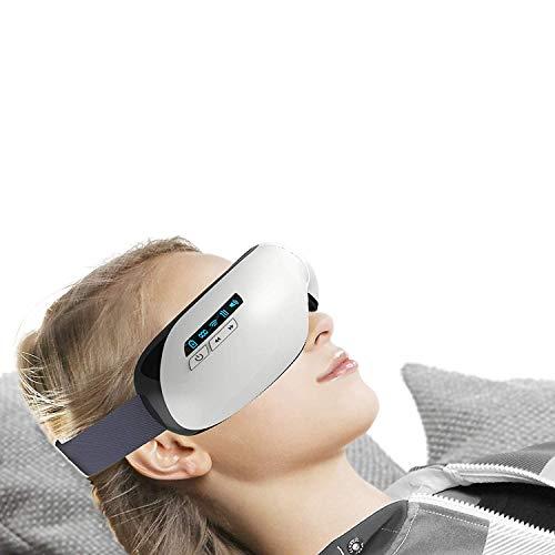 AugenmassagegeräT Sonic, WäRme Vibration Luftkompression Musik FüR Kopfschmerzen Stress Verbessern Schlaf Kopf Stress Relief Relief Auge Entspannen Travel Office Home Auto (Rücken-massagegerät Sonic)