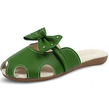 RTRY Donna Sandali Comfort Pu Estate Casual Comfort A Piedi Tacco Basso Verde Bianco 1A-1 3/4In US5.5 / EU36 / UK3.5 / CN35