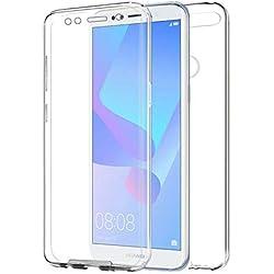 TBOC Coque pour Huawei Honor 7A [5.7 Pouces] - Housse [Transparent] Complète [Silicone TPU] Full Body [360 Degrés] Intégral Protection Avant Arrière Portable Etui Anti Choc et Rayures