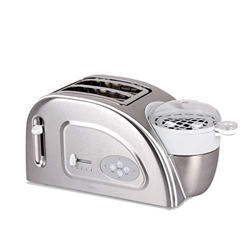 Automatische Defibrillator (ZHongWei - Toaster 2 Scheiben Toaster, Frühstücksmaschine, automatisches Hauptfrühstück, Toaster Frühstücksmaschine (Color : Silver))