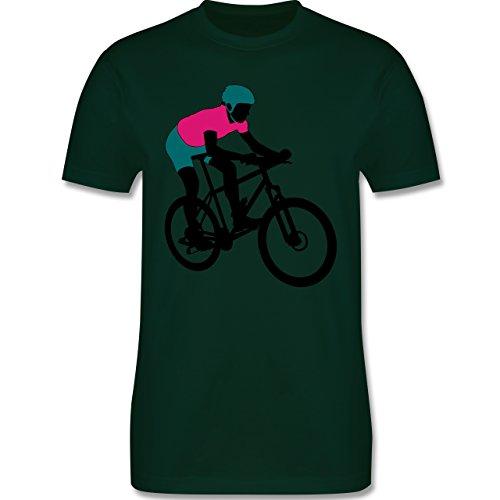 Radsport - Mountainbike MTB Geländefahrrad - Herren Premium T-Shirt Dunkelgrün