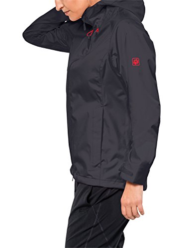 Jack Wolfskin Arroyo Hardshelljacke Damen, Wetterschutz Funktionsjacke für Damen, wasserdichte, winddichte & atmungsaktive Regenjacke, Outdoorjacke mit angenehmer Passform, schwarz - 3